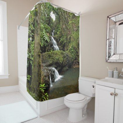 Jungle Waterfall Shower Curtain Bathroom Accessories Home Living