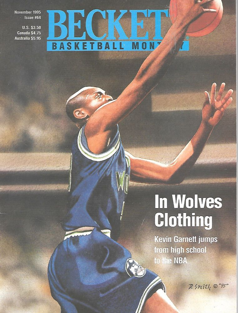 Beckett Basketball Monthly Magazine November 1995 64 Kevin