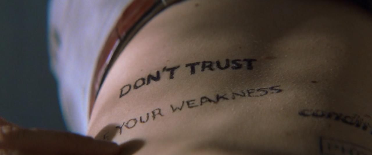 Imjacksfilmclub Memento Tattoo Movie Quotes Essay