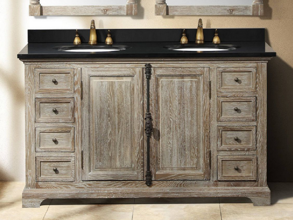 Ove Decors Kevin 60 Bathroom Double Vanity In Pebble Grey With