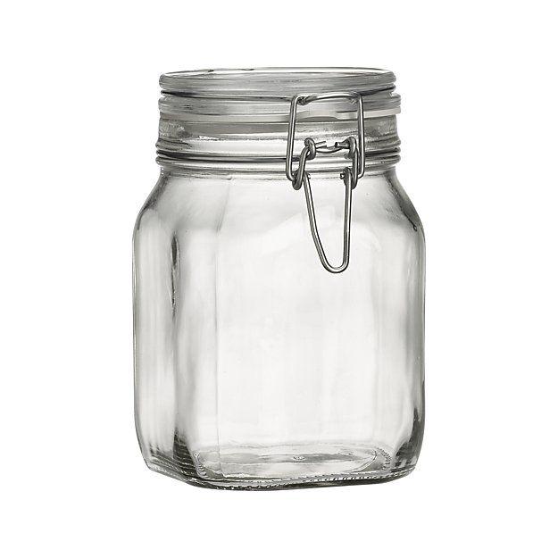 Fido 1 Liter Jar With Clamp Lid Reviews Crate And Barrel Jar Storage Crate Barrel Jar