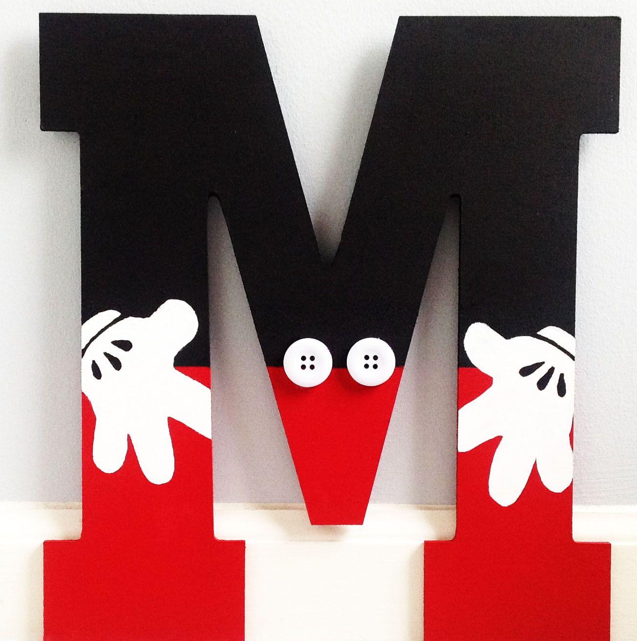 Mickey mouse inspired letter letras letras decoradas y fiestas - Lettre disney ...