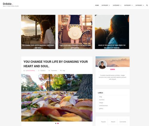 Dribble- Responsive Blogger Template -Free Download http://www ...
