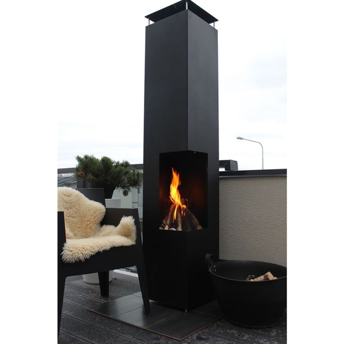 GardenMaxX Tacora XL Outdoor Fireplace in 2 Colours ... on Costco Outdoor Fireplace  id=60665