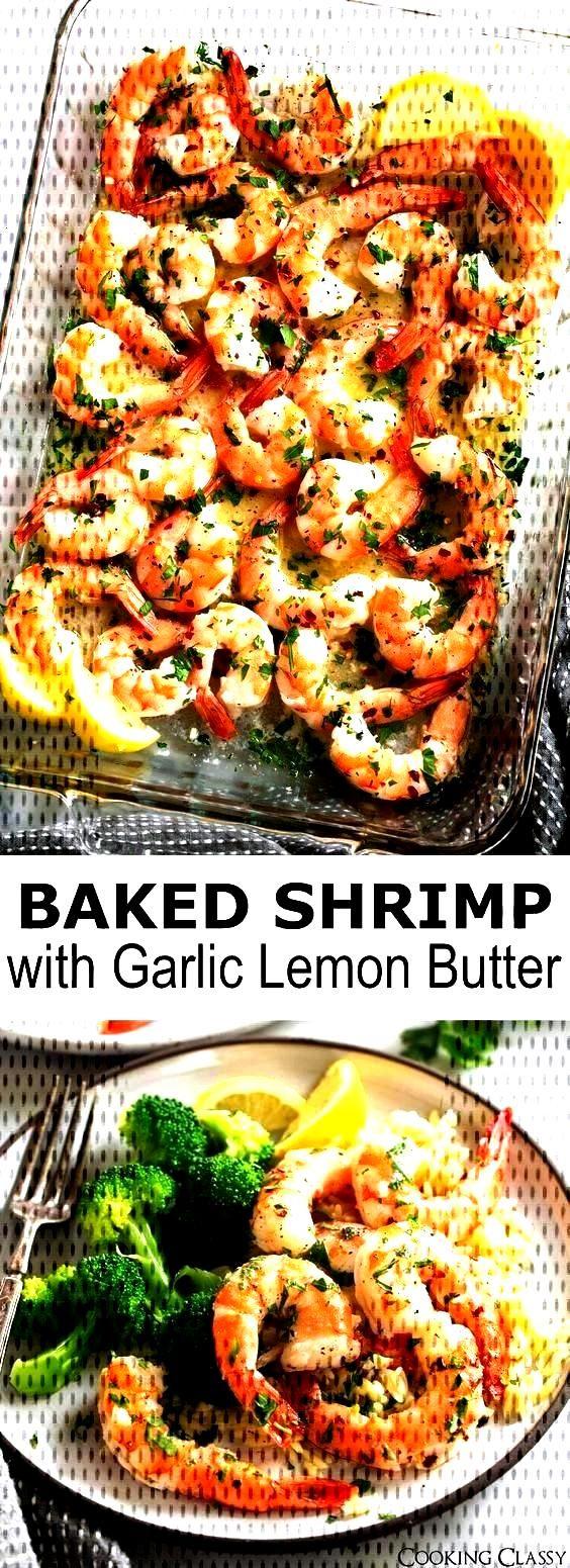 Baked Shrimp (with Garlic Lemon Butter Sauce) - easy recipesBaked Shrimp (with Garlic Lemon Butter