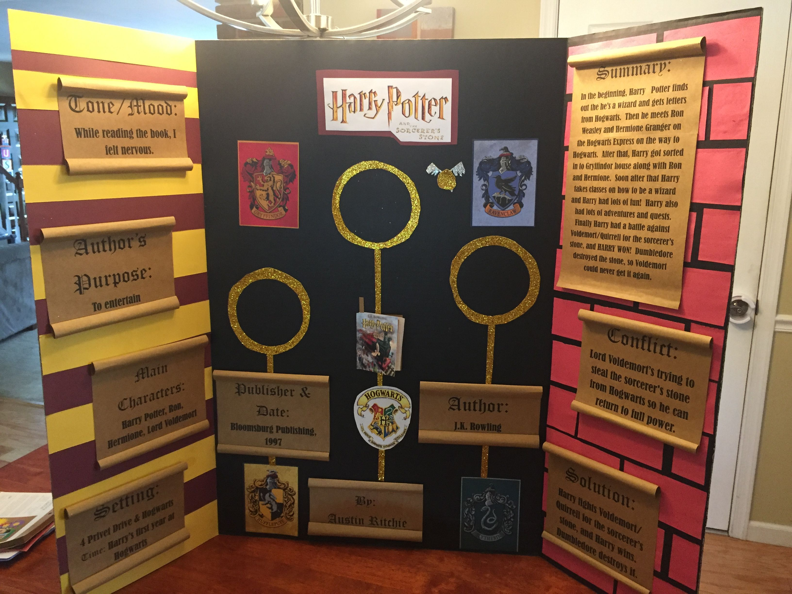 Harry Potter Book Report : Harry potter and the sorcerer s stone book fair project