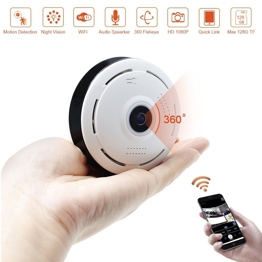 Caméra espion cachée avec détecteur de mouvement Nanny Cam Webcam 1080P