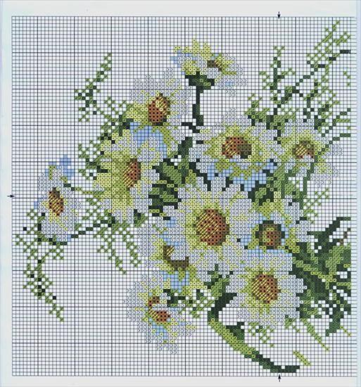 Rumianki Kwiaty Izyda55 Chomikuj Pl Cross Stitch Flowers Cross Stitch Geometric Floral Cross Stitch