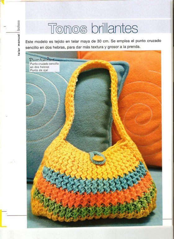 Loom Knitted Bag Llk With Pattern Crafts Loom Knitting