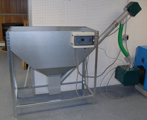 wood pellet hopper with live bottom and auger | Projects for