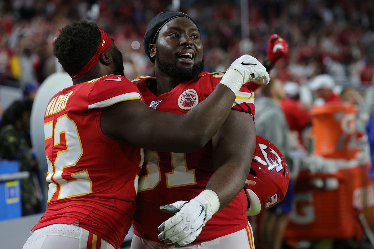 Chiefs defensive tackle Derrick Nnadi celebrated the Super