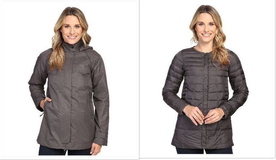 32875779a Details about The North Face NEW Gray Womens Size XL Ivy Hill Down ...
