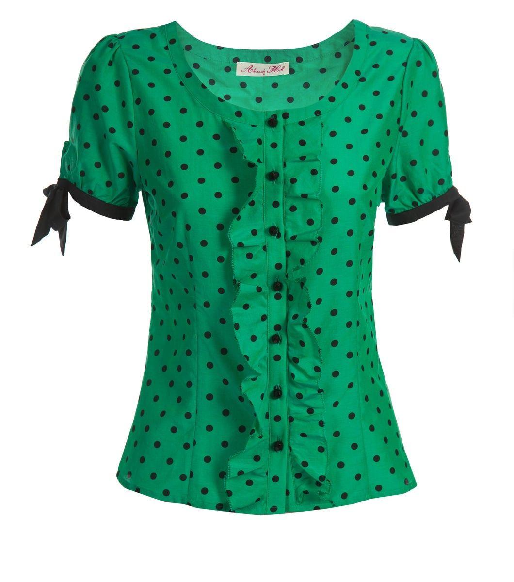 File:Pinky Swear Blouse (Green-Black) $149 front.jpg