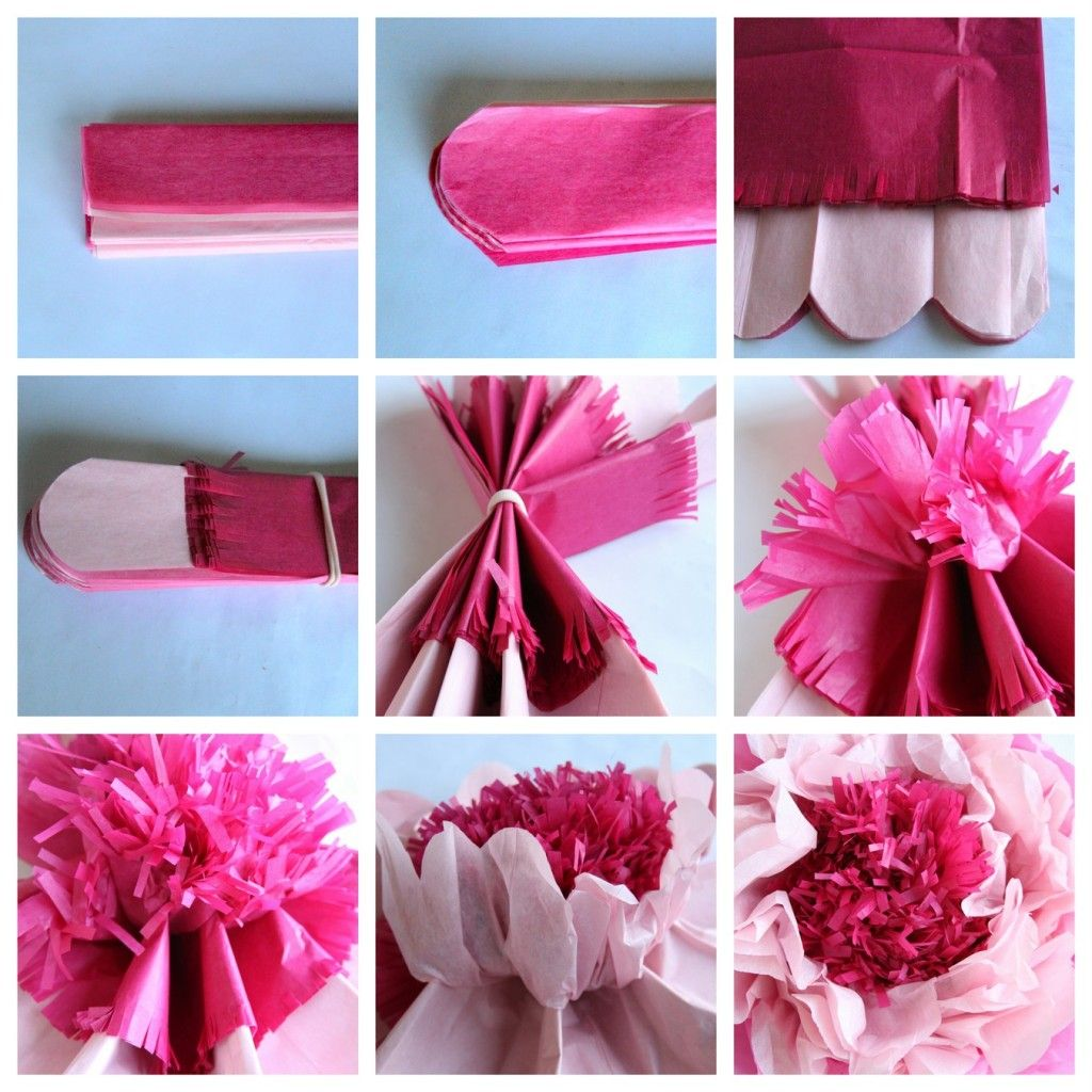 How To Make Giant Tissue Paper Flowers Diy Crafts Paper