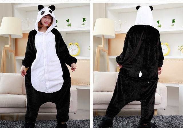 2017 Winter Pajama sets Women pijama unicornio Panda stitch unicornio onesies  for adults Animal Pajamas Cartoon Cosplay pyjama 7f4609452