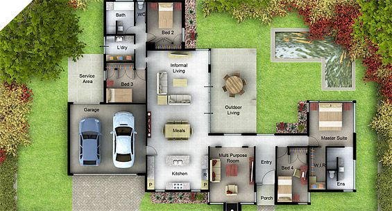 Crace - Suburban Homes - The Edward dream house Pinterest House - faire son plan de maison en 3d
