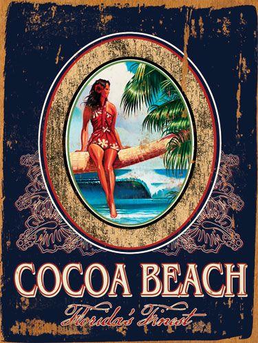 Cocoa Beach Sign 0003 1415 Jpg 375 498 Cartazes Vintage Viagens Vintage