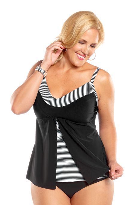 9ca35a8b6547d Christina Still Sea Plus Size Tankini Top Always for Me Price  68.00 In  Stock