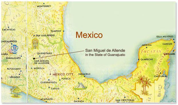 san miguel de allende guanajuato mexico map 10 Reasons Why People Fall In Love With San Miguel De Allende