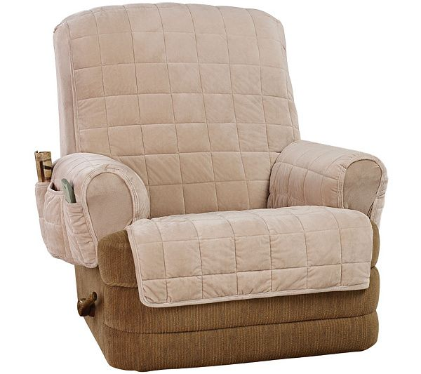 Sure Fit Ultra Deluxe Recliner Stretch Furniture Cover Qvc Com