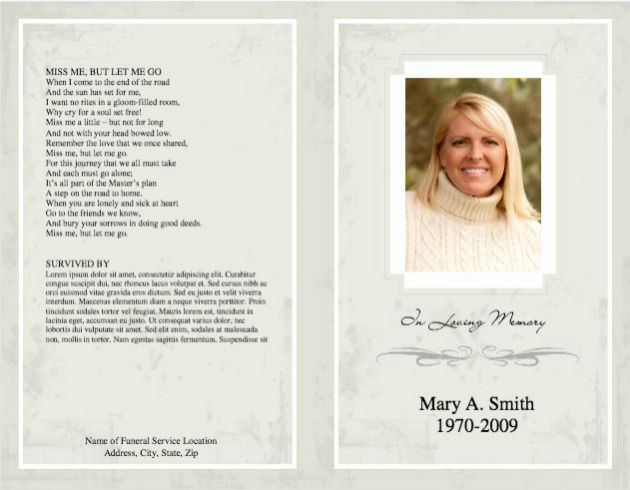 Free Funeral Programs Shop For #printable #funeral #program #templates At Wisteria Press .