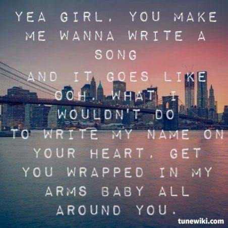 Thomas Rhett:Make Me Wanna Lyrics