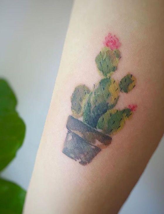 G No Watercolor Cactus Tattoo Cactus Tattoo Cactus Tattoo Small