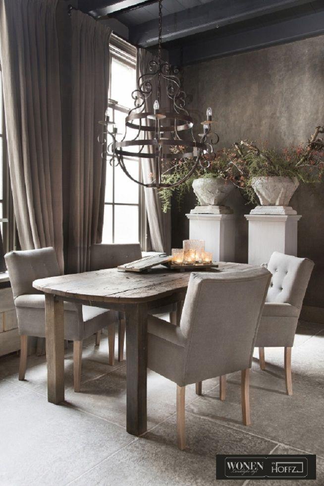 Wonen landelijke stijl woonkamer by hoffz interieur interieur pinterest interieur - Eigentijdse eetkamer decoratie ...