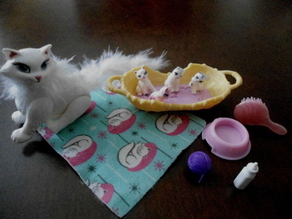 barbie shelly zubeh r tiere katze schwanger katzenbabys barbie cats and dogs animal love. Black Bedroom Furniture Sets. Home Design Ideas