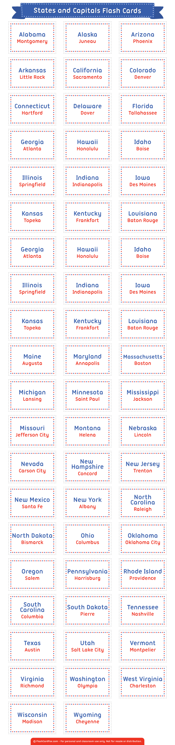 photo about States and Capitals Flash Cards Printable known as Pin as a result of Muse Printables upon Flash Playing cards at