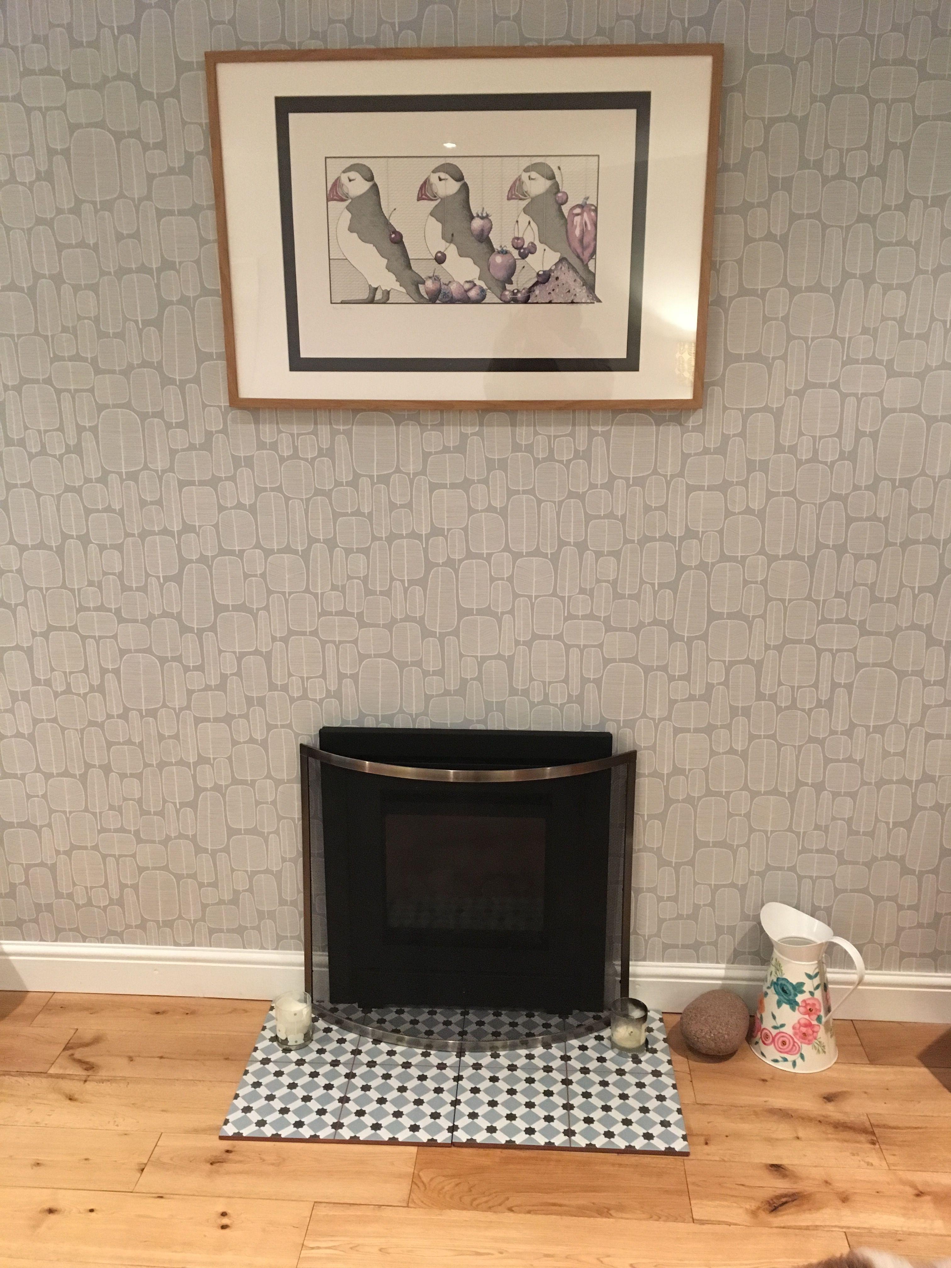 Tree Design Wallpaper Living Room: Missprint Little Trees Wallpaper London Fog