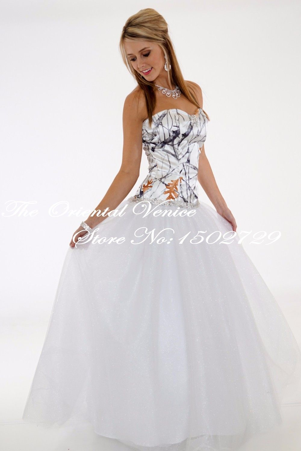 Free shipping 2017 true timber snowfall camouflage wedding gowns free shipping 2017 true timber snowfall camouflage wedding gowns white camo wedding dress ball gowns bling ombrellifo Image collections