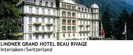 Lindner Grand Hotel Beau Rivage in Interlaken Switzerland.