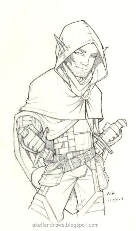 Daily Drawing Vax'ildan Vax'ildan the half-elven Rogue