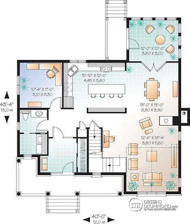 Plan De RezDeChausse Maison Avec Solarium Bureau  Domicile