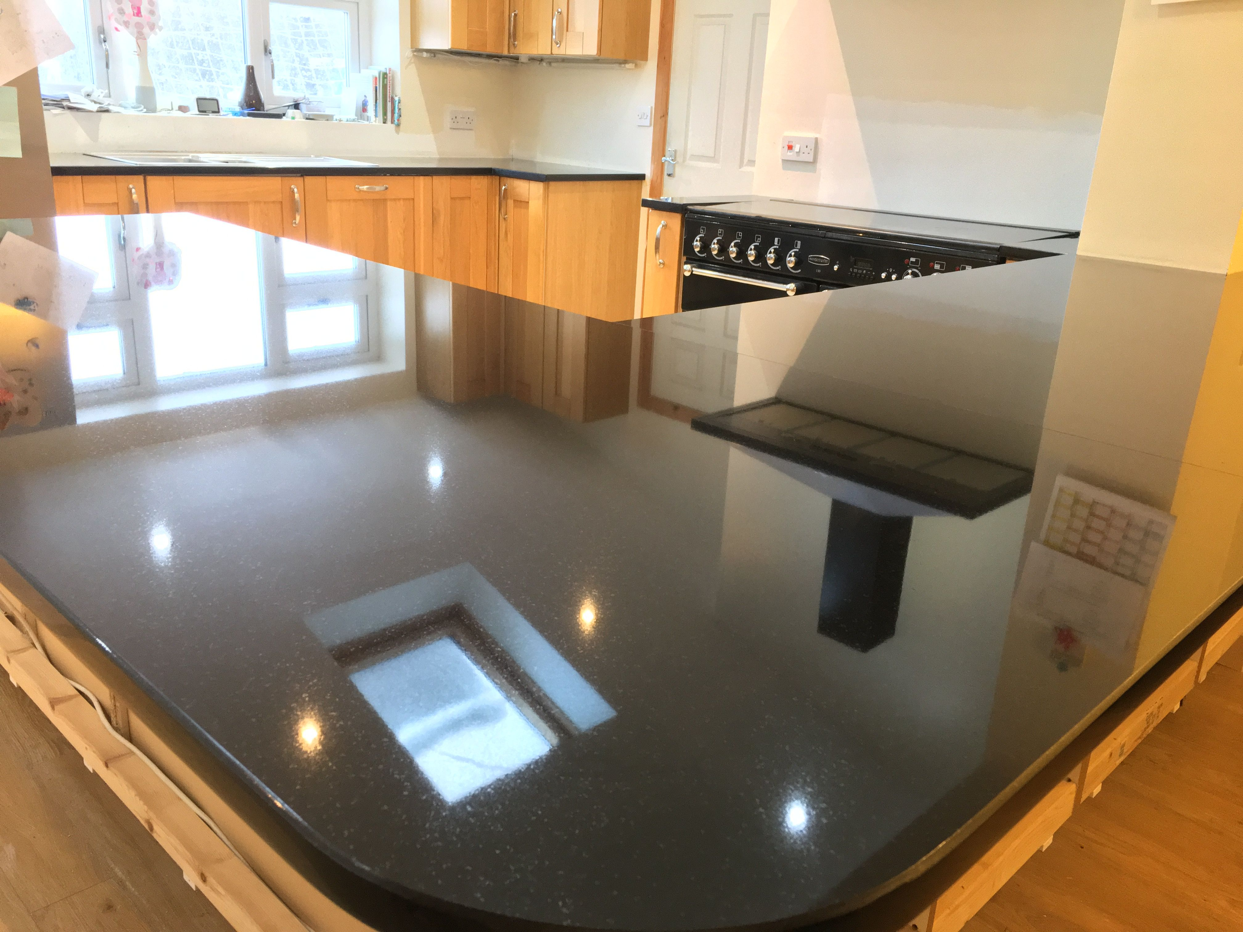 Nero Zimbabwe Granite Worktops With A Oak Kitchen In North