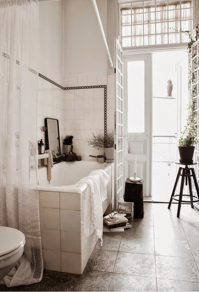 idees deco sdb carrelage blanc | Bathroom | Pinterest