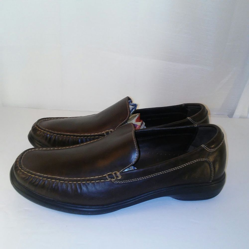 f5d246a4f70 Cole Haan Mens Brown Air Keating Venetian Dress Slip-on Loafers Size 10   ColeHaan  LoafersSlipOns