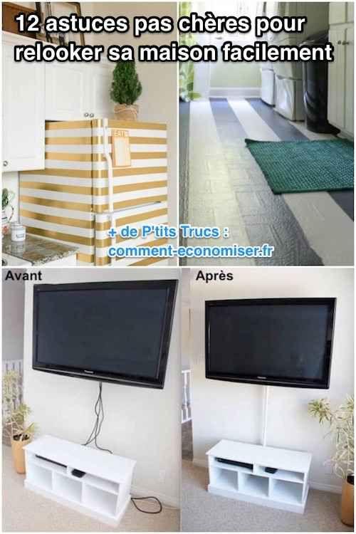 12 astuces pas ch res pour relooker sa maison facilement relooker comment economiser et. Black Bedroom Furniture Sets. Home Design Ideas
