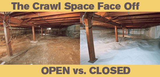The crawlspace argument open vented vs closed for Crawl space slab