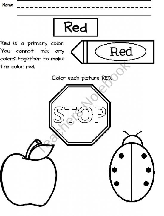 Color Worksheets product from Ms-Melissa on