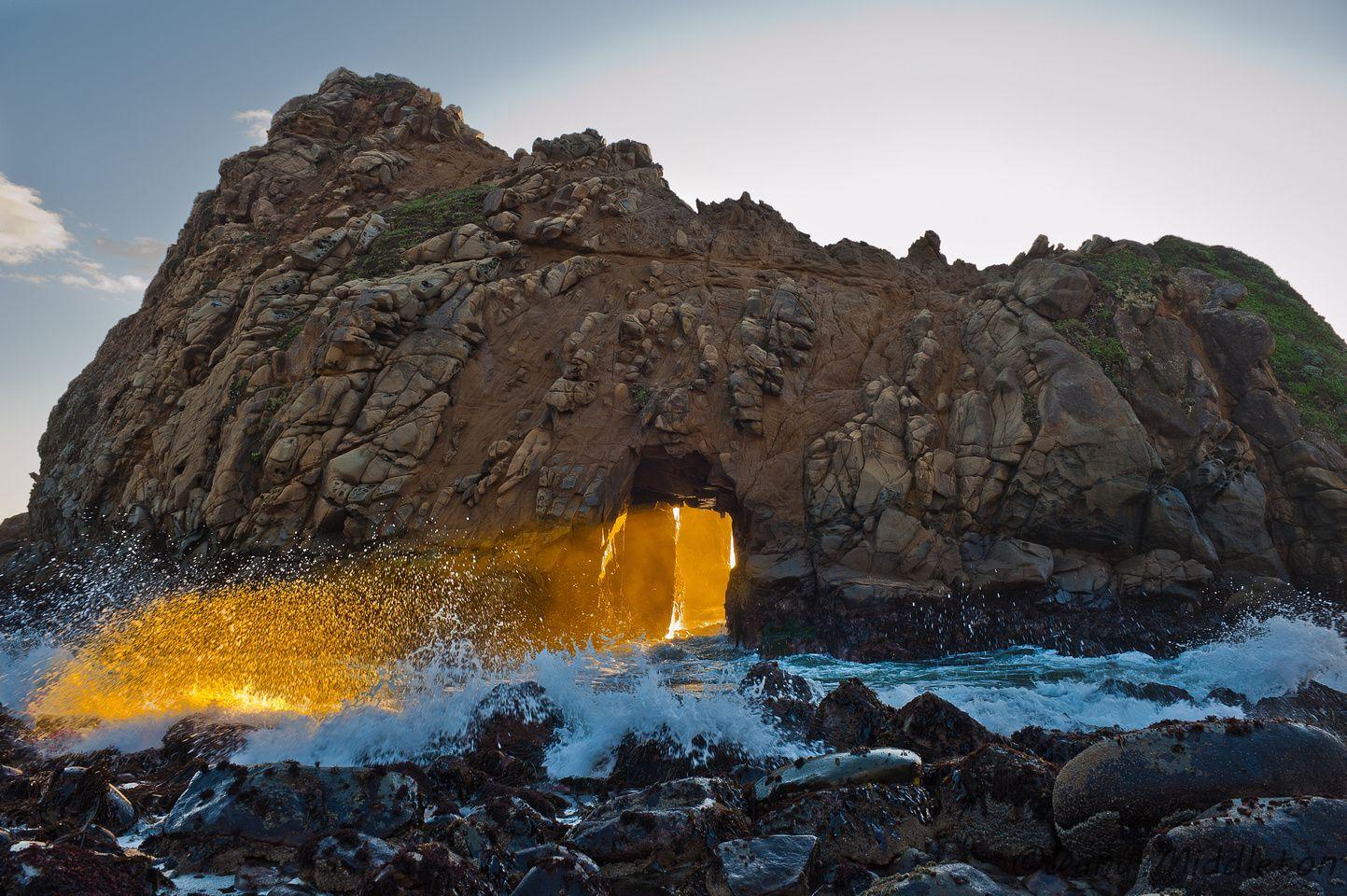 Pfeiffer Beach Arch Sunset