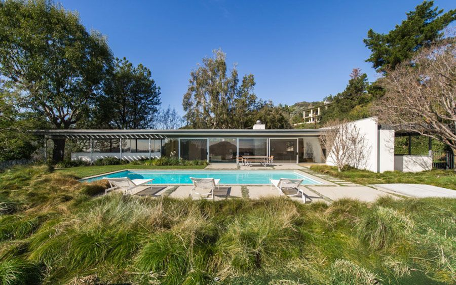 Richard Neutra Clarck House - pool | Mid century homes | Pinterest on carriage house guest house designs, hacienda guest house designs, southwestern guest house designs, ranch guest house designs,