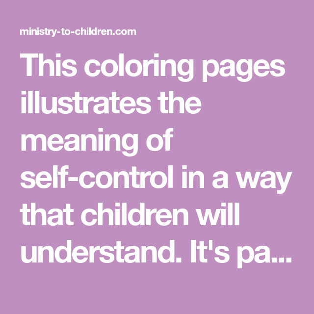 this coloring pages illustrates the meaning of self