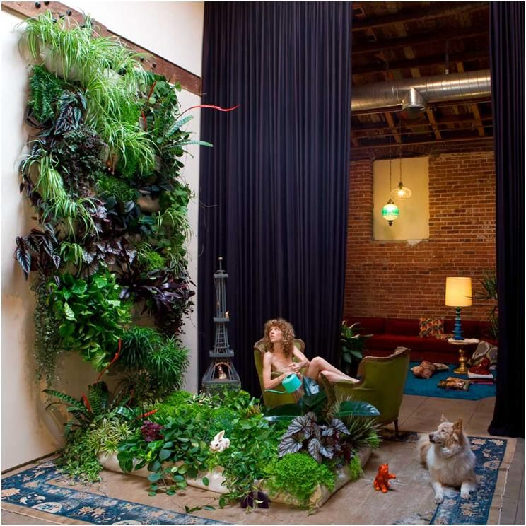 Compact Indoor Vertical Garden Design For Space Saver Exterior Landscape :  Eco Friendly Home Interior Design
