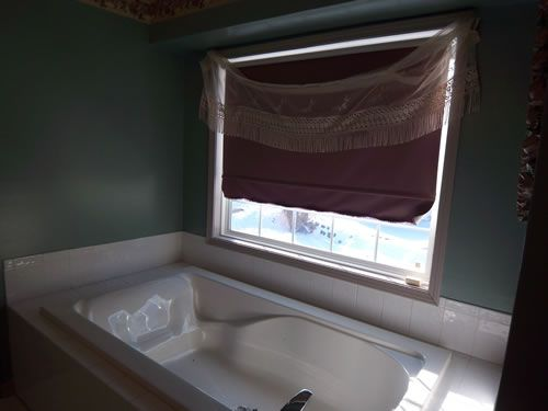 master bathroom window - before