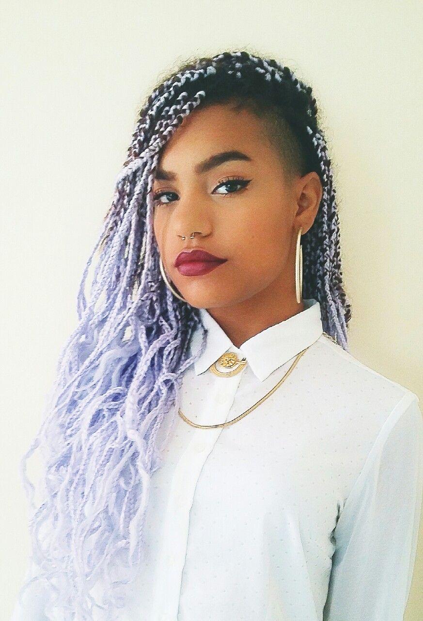 30 Lavender Hair Styles Lavender Hair Box Braids
