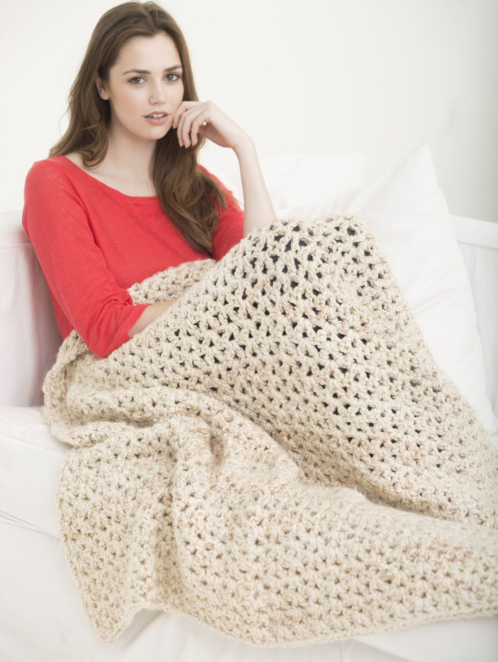 Crochet this 5 1/2 Hour Afghan with 2 of our Made in America ...