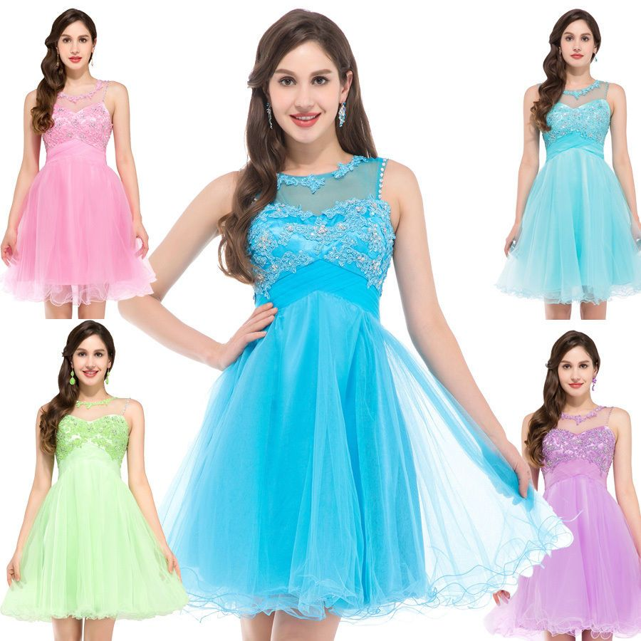 Awesome great short mini homecoming bridesmaid dresses ball