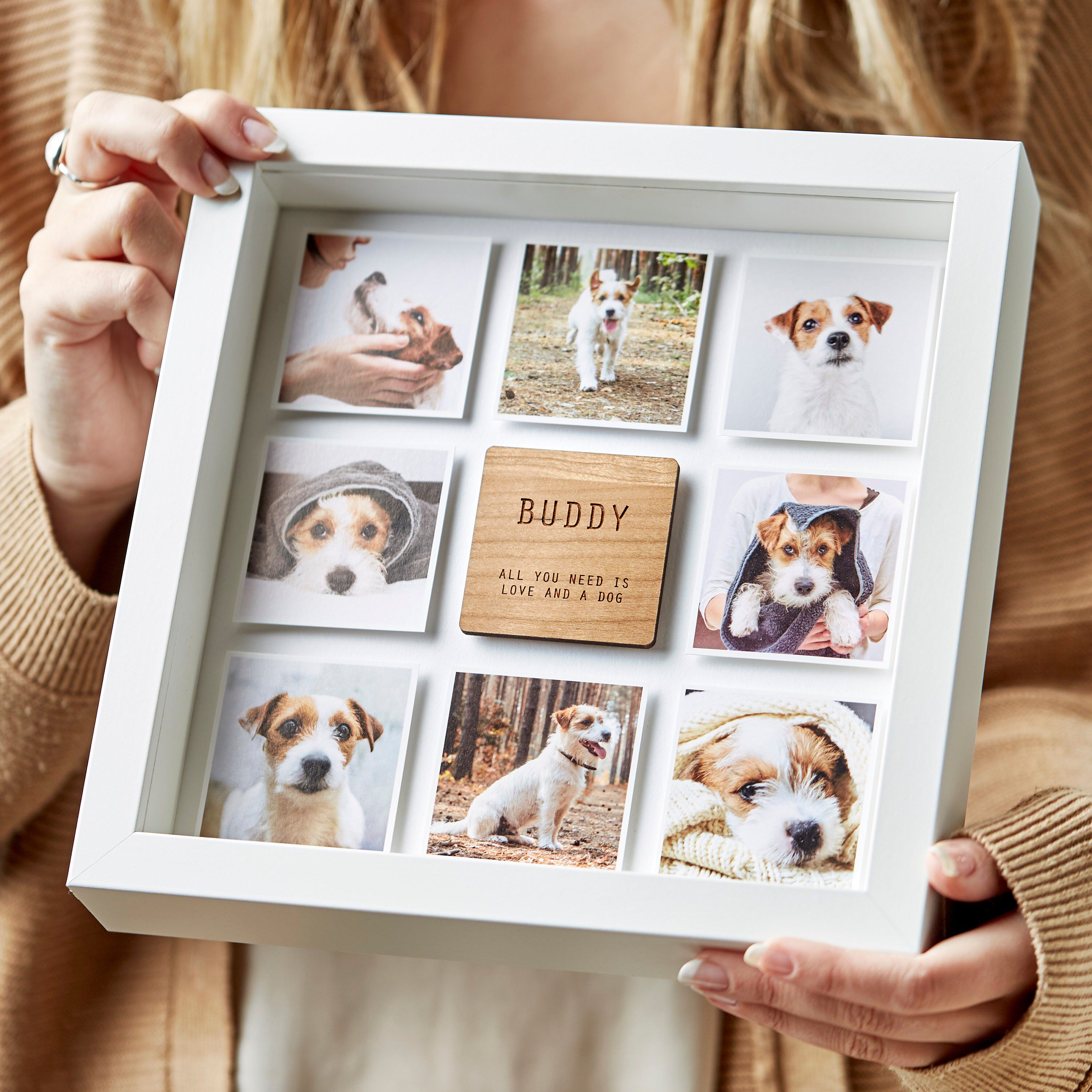 Personalised Dog Gift Wall Art Print Friend Breeder Mum ANY BREED ANY COLOUR